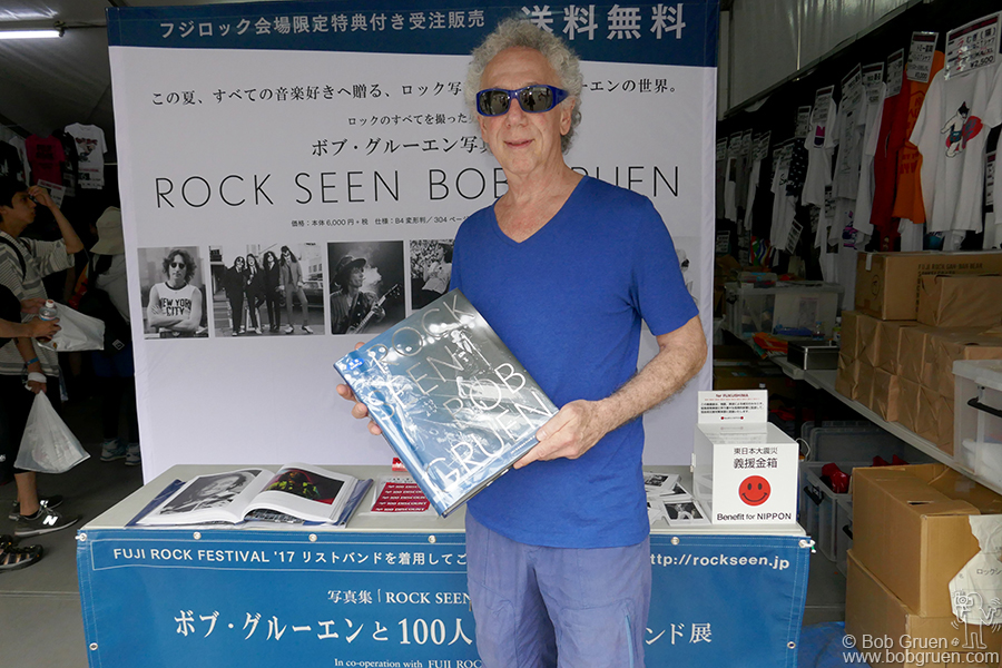 "July 28 – Japan – ""Rock Seen"" was published by Smash Productions, who also produce the Fuji Rock Festival, so naturally they had several booths there to sell the book."