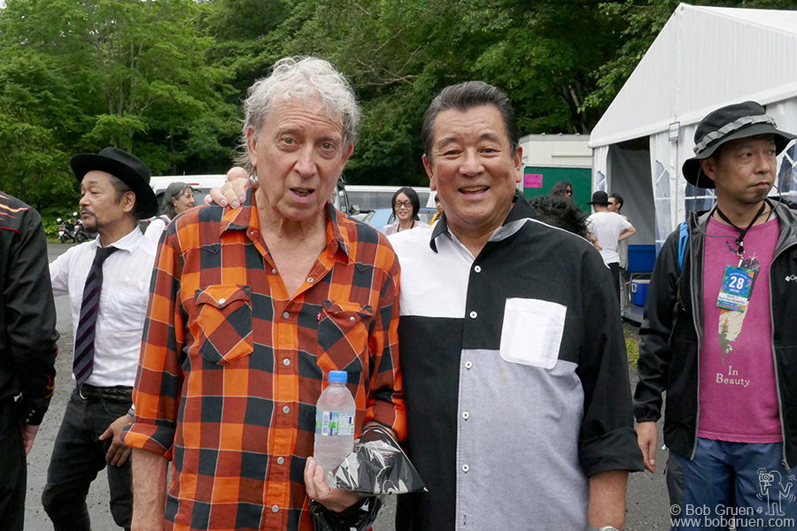 July 28 – Japan – Elvin Bishop and Yazo Kayama performed together during Fuji Rock Festival. Yazo is 81 years old and is Japan's answer to Elvis Presley… and he's still rocking!