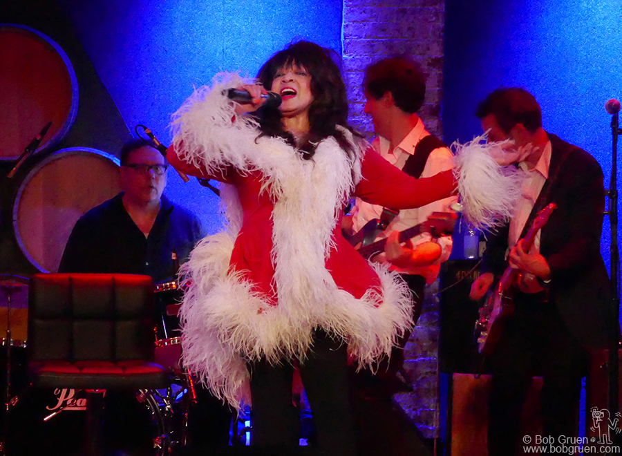 Dec 20 – NYC – Ronnie Spector on stage at City Winery for her annual Holiday Extravaganza show.