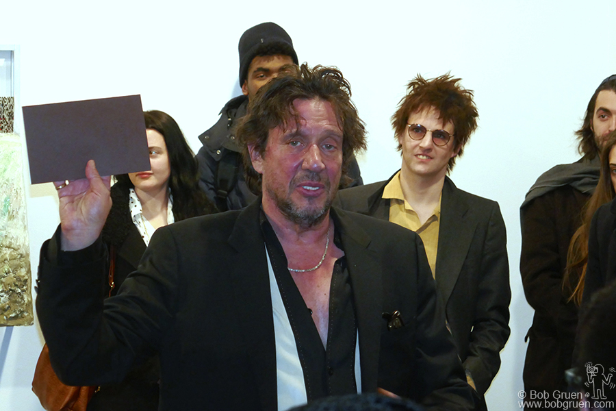 Jan 16 – NYC – Richard Hell read from his book during an exhibition at White Columns gallery.