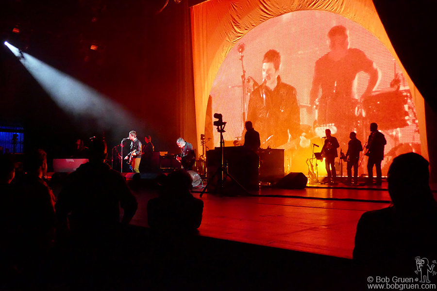 Feb 15 – NYC – Noel Gallagher's High Flying Birds on stage at Radio City Music Hall, NYC.