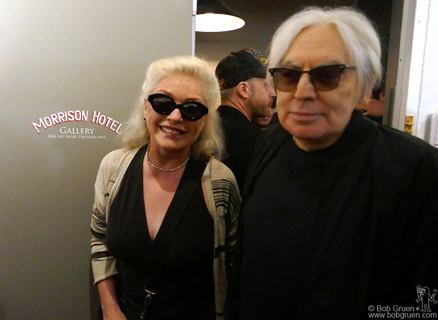 May 17 – NYC – Debbie Harry and Chris Stein of Blondie arrive at the CBGB exhibit at Morrison Hotel Gallery.