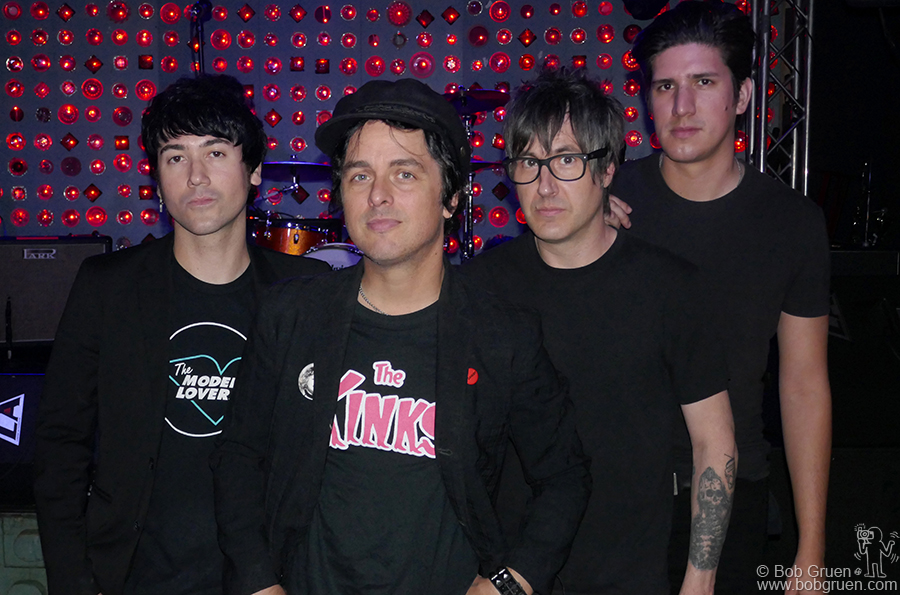 June 1 – Brooklyn – Billy Joe Armstrong's new side project, Longshot, before their show at Baby's All Right in Brooklyn.