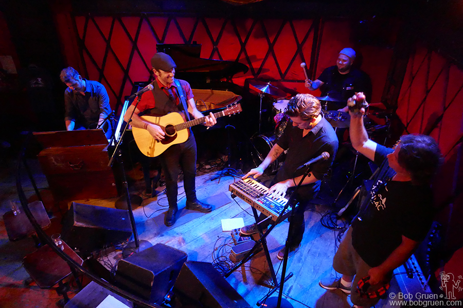 July 2 – NYC – My son Kris Gruen on stage at the Rockwood Music Hall during the party for his new CD 'Coast & Refuge'. He's been getting great reviews for this, his 4th CD.