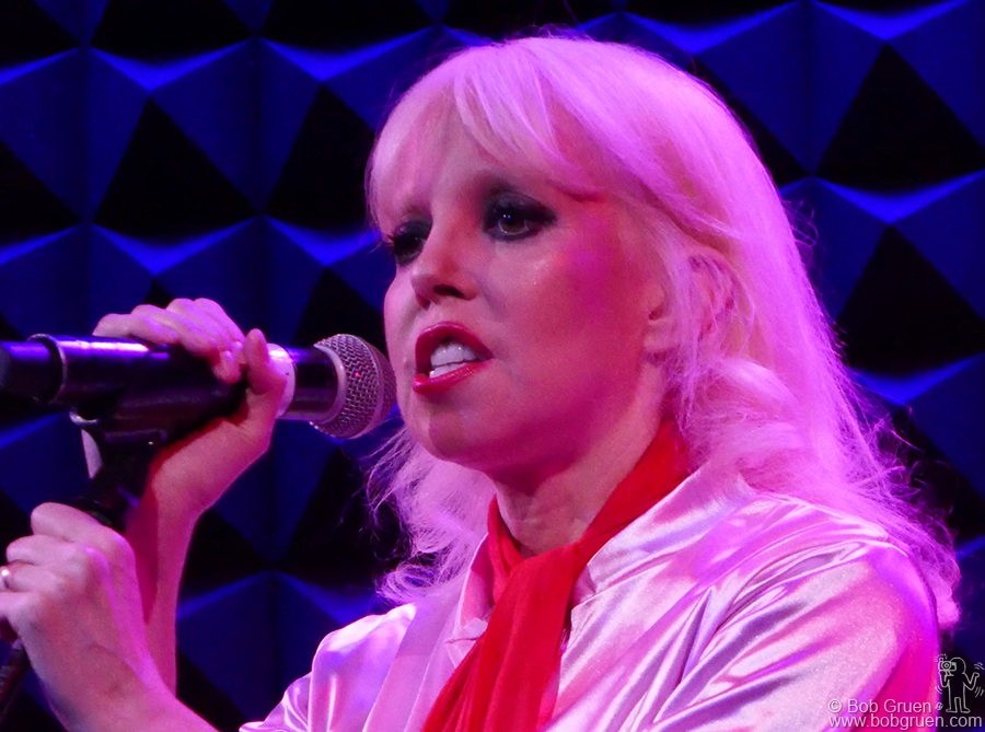 April 11 – NYC – Tammy Faye Starlite performing on stage during her solo show at Joe's Pub, NYC.