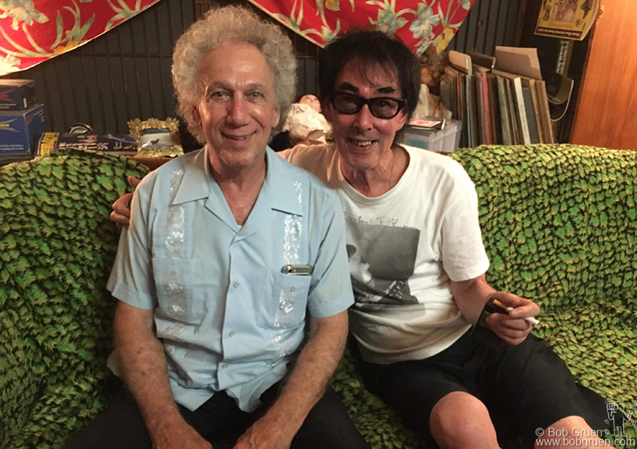 Aug 1 – Tokyo – On the way home I had time to visit with Makoto Ayukawa of Sheena and The Rokkets in Tokyo, Japan.