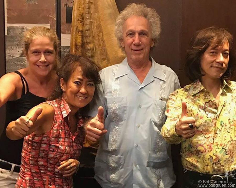 Elizabeth, Yuki, me and Yutaka, known as 'Diamond Yuki' after dinner in Tokyo, Japan.