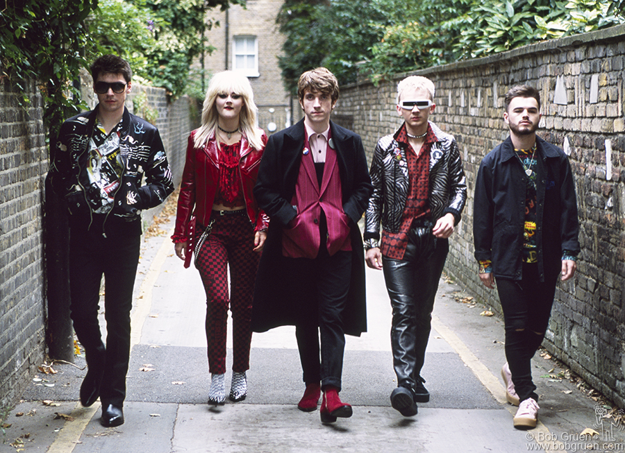 Aug 22 – London – The Japanese fashion company Hysteric Glamour hired me to photograph their new fall line in London, England. They asked if I knew a young band he liked so I suggested the Strypes and they looked great!