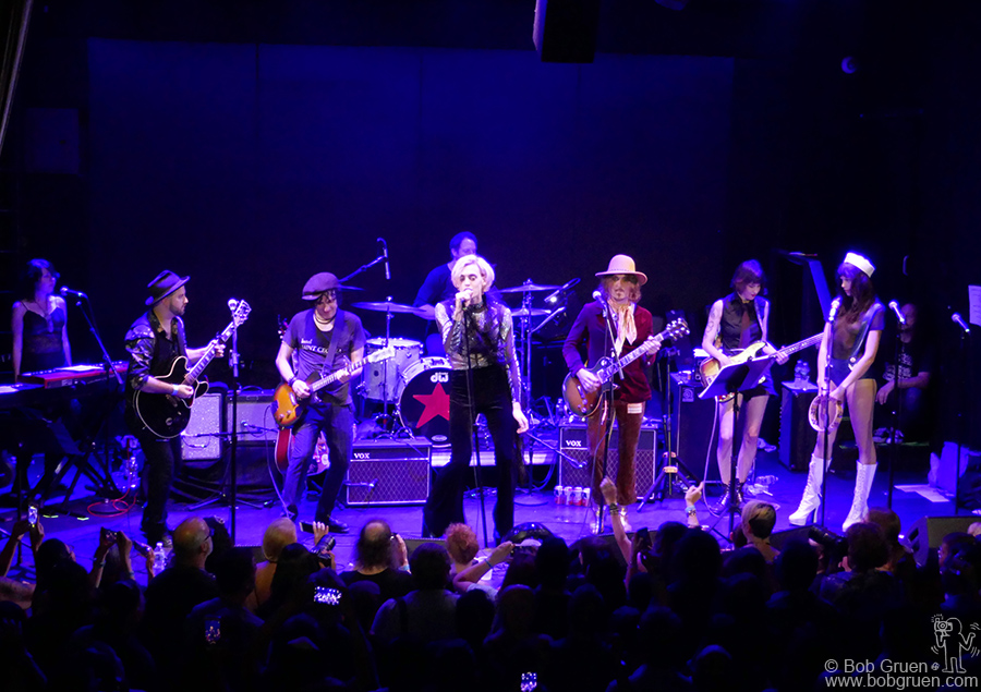 "Jesse Malin and Uni on stage during the ""Summer StrummerJam"" at Bowery Ballroom, NYC."