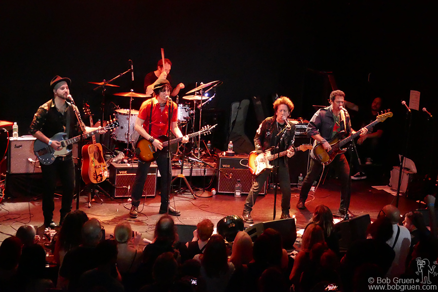 "Aug 25 – NYC – Jesse Malin and Willie Nile on stage during the ""Summer StrummerJam"" at Bowery Ballroom, NYC. Willie really rocked the house!"
