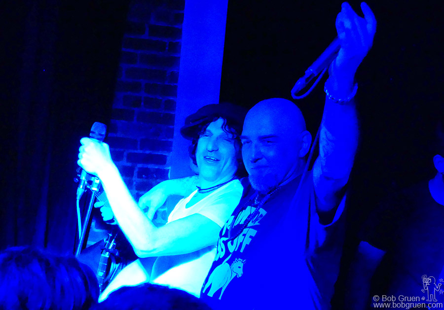 April 26 – NYC – Jesse Malin opened a new bar, Coney Island Baby on Ave A and he joined Jimmy Gestapo of Murphy's Law on stage during the opening show.