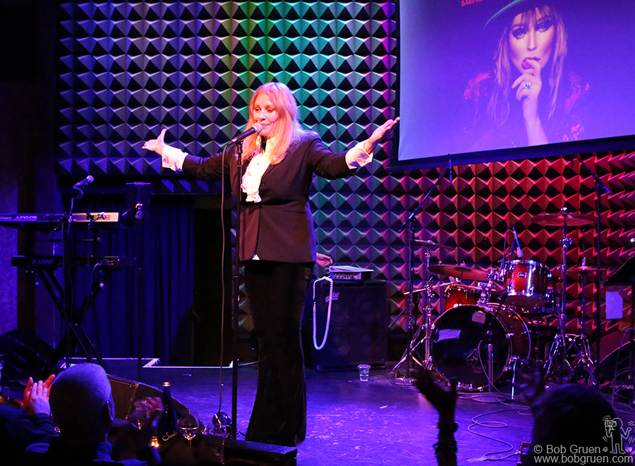 April 29 – NYC – Bebe Buell brought her Rock & Roll  show to New York again on stage at Joe's Pub, NYC.