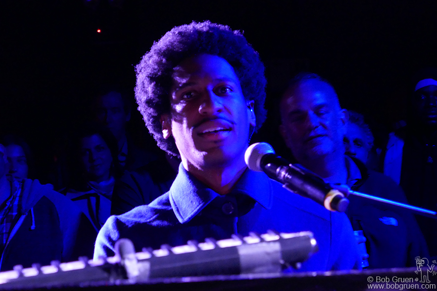 April 30 – NYC – Verve recording artist and star of the Late Show with Stephen Colbert, Jon Batiste plays for the Verve party at Le Poisson Rouge, NYC.