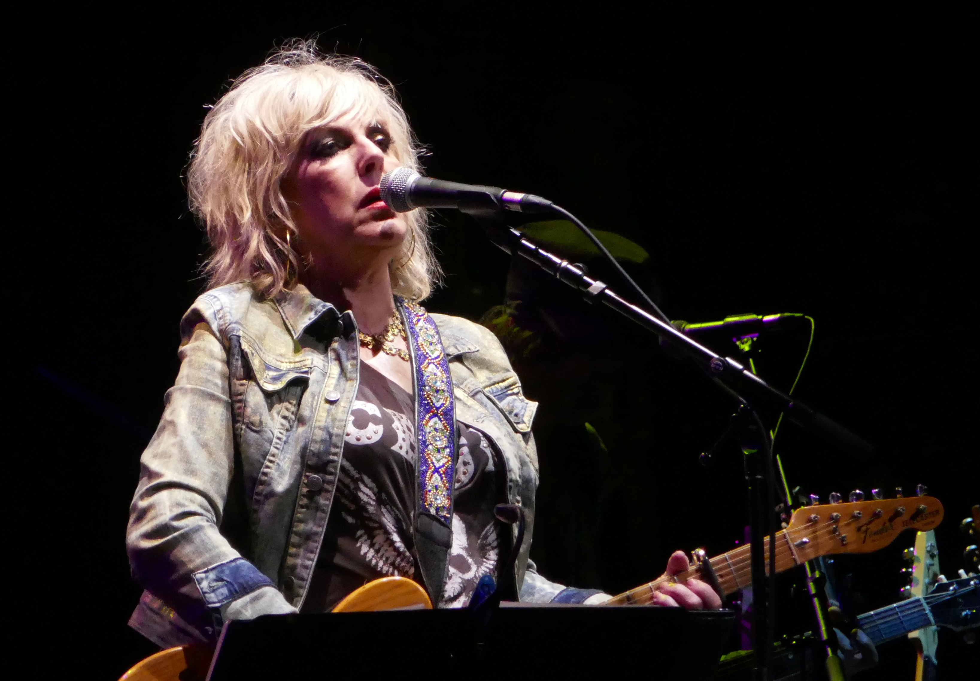 June 13 – NYC – Lucinda Williams sings the blues better than anyone on stage at the Beacon Theatre.