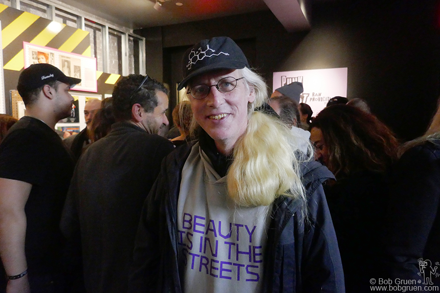 "Nov 29 – NYC – Carlo McCormick at the opening of ""Punk Lust: Raw Provocation, 1974-1984"" the exhibition he curated at the Museum of Sex."