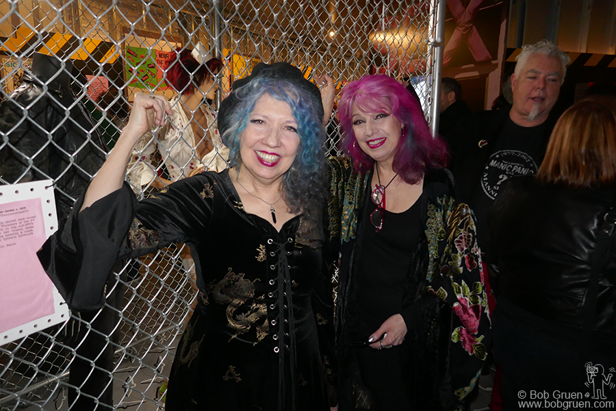 "Nov 29 – NYC – Tish and Snooky Bellomo, creators of Manic Panic hair dye, during the opening of ""Punk Lust: Raw Provocation, 1974-1984"" at the Museum of Sex where costumes from their band 'the Sick Fu*ks' were on display."