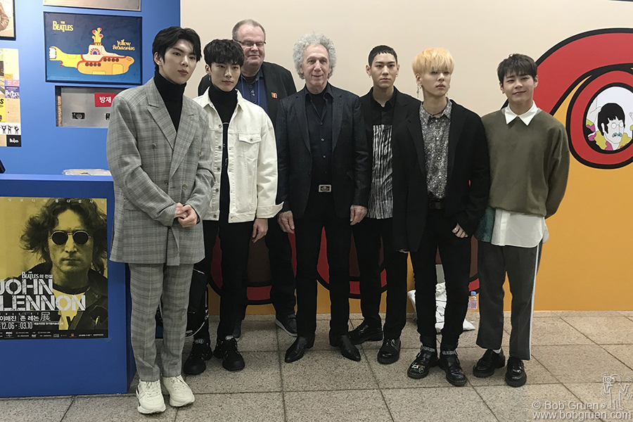 Dec 6 – Seoul – I met the K-pop band Imfact during a press conference for the opening of the John Lennon exhibit at the Hangaram Art Museum.