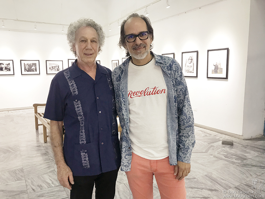 "Dec 15 – Havana – I went to Cuba for an exhibition of my photos at Fototeca de Cuba. Here I""m with gallery manager Nelson Ramirez de Arellano for the opening of  exhibition there."