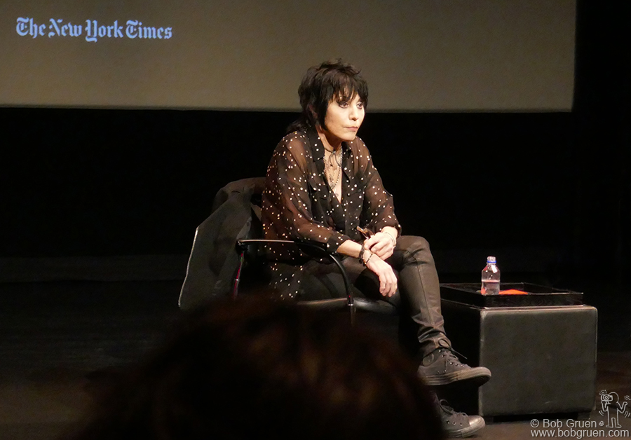 Oct 1 – NYC – Joan Jett was interviewed for a New York Times talk at the Florence Gould Hall at French Institute Alliance Francaise.