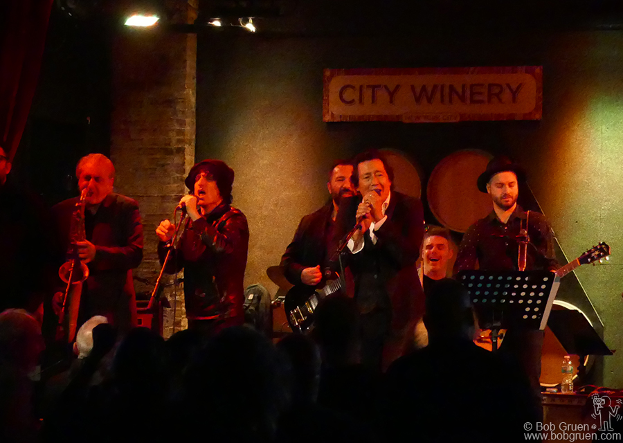 Jan 18 – NYC – Jesse Malin joins Alejandro Escovedo and his band on stage for the encore at the City Winery.