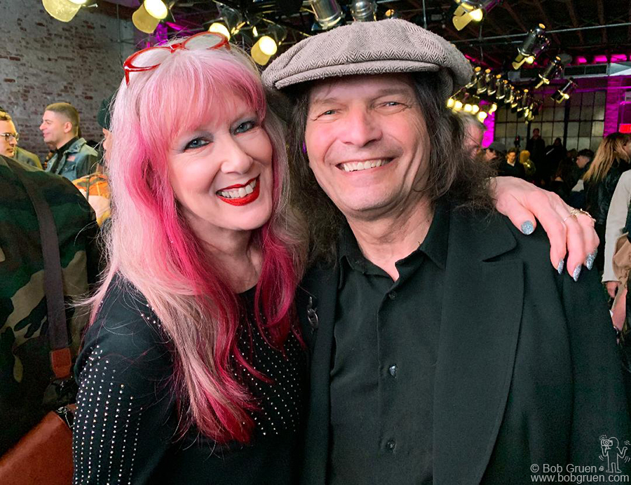 Feb 11 – NYC – Cindy and Dennis Dunaway during the Anna Sui Spring 2019 fashion show at Spring Studios.