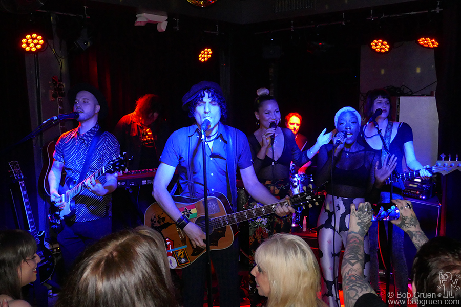 Oct 9 – NYC – Jesse Malin and his band on stage for a very rocking set at his new LES club Coney Island Baby.