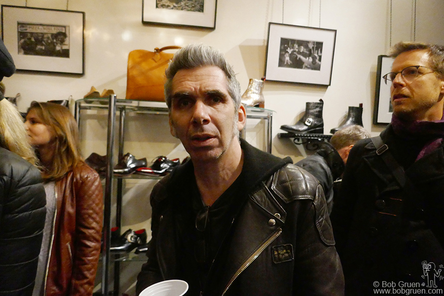 Oct 25 – NYC – Josh Cheuse at an opening for an exhibit of his photography at the Jeffery-West custom shoe store in Greenwich Village.
