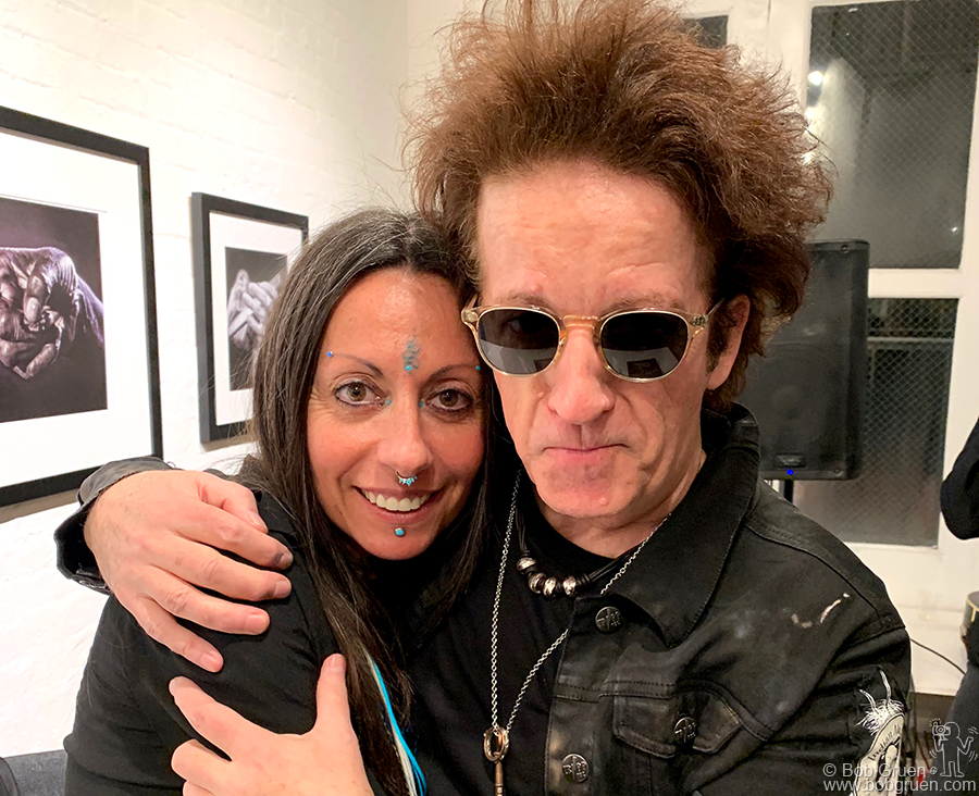 Feb 20 – NYC – Cristina Arrigoni signed copies of her new book of photos 'The Sound of Hands' at Morrison Hotel Galley, NYC. Her boyfriend Willie Nile played a set to entertain the crowd.