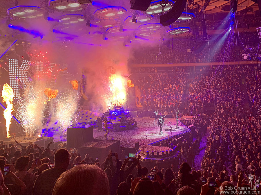 March 27 – NYC – KISS on stage at Madison Square Garden. Gene Simmons once said you only need three words to describe a KISS show… WOW! WOW! WOW! and he's so right!