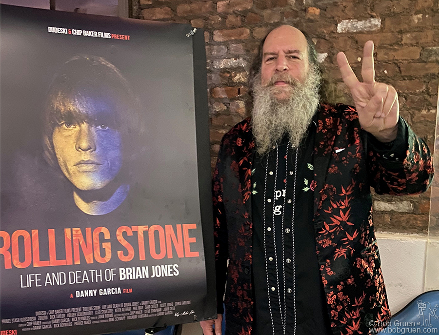 """Jan 30 - NYC - Michael Schnapp during the screening of """"Rolling Stone: Life And Death of Brian Jones"""" at the Anthology Film Archives."""