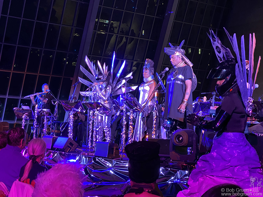 Feb 29 - NYC - Nona Hendryx and the Sun Ra Arkestra in tribute to Sun Ra on stage in the Temple of Dendur room  at the Met Museum.