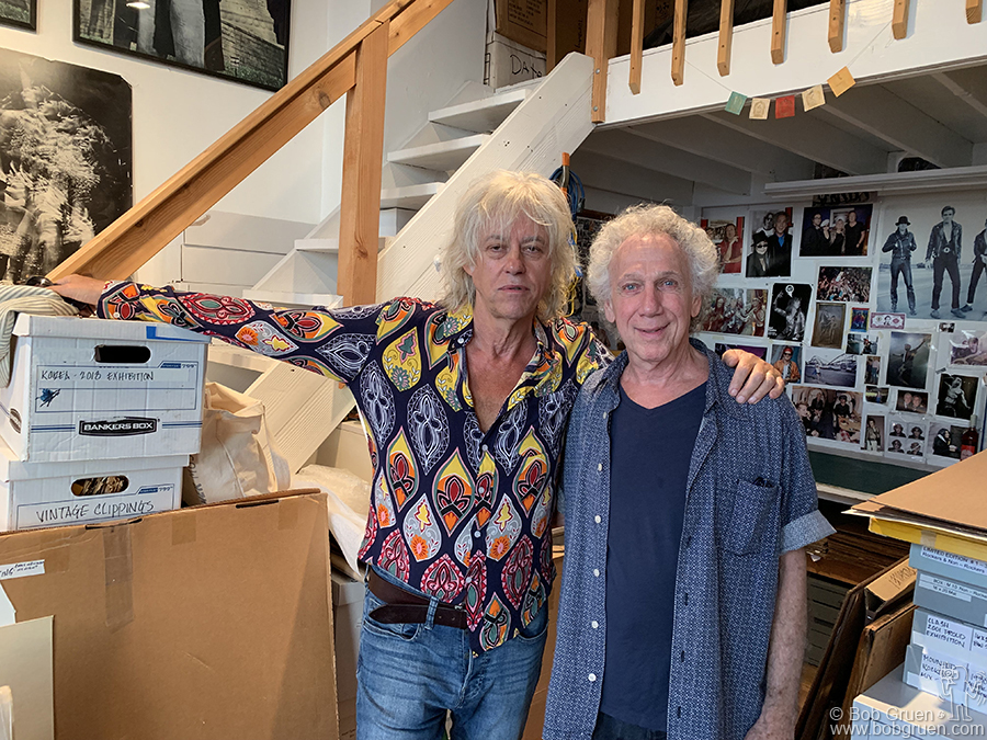 Sept 4 - NYC - Sir Bob Geldof came to my Westbeth Studio to ask me to be in a documentary about the Boomtown Rats. It's finished now and tells a great story about a great band.
