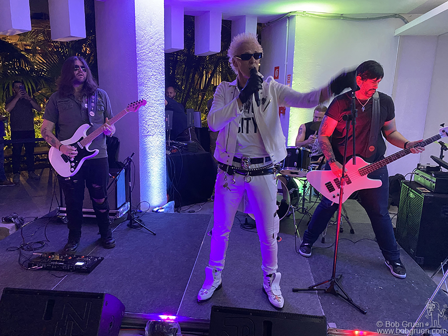 """March 12 - Sao Paulo - Supla played punk versions of John Lennon songs at the opening of """"John Lennon Em Nova York Por Bob Gruen"""" at the Museum of Image and Sound in Sao Paulo, Brazil."""