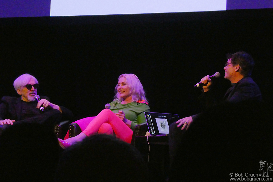 Sept 30 - NYC - Debbie Harry celebrated the release of her autobiography, Face It, at Town Hall talking with Chris Stein and Rob Roth.
