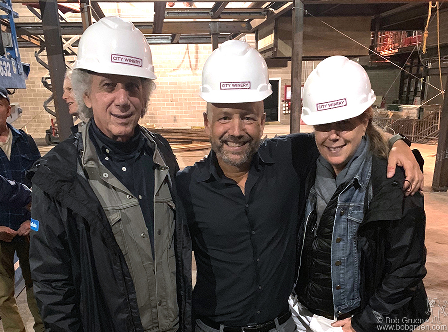 Oct 3 - NYC  City Winery owner Michael Dorf gave me and my wife Elizabeth a preview of the new spot he was building on Pier 57 at W 15th St in Chelsea.