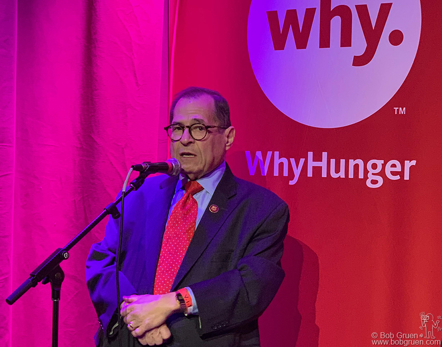 Oct 10 - NYC - Congressman Jerrold Nadler talks at a WhyHunger benefit at City Vineyard. Jerry does great work not only for our New York community but is always working hard to preserve democratic freedoms in the whole country.